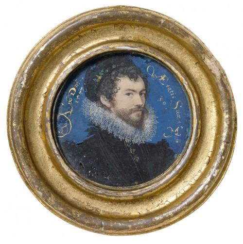 Nicholas Hilliard, selvportræt, 1577, Victoria and Albert Museum
