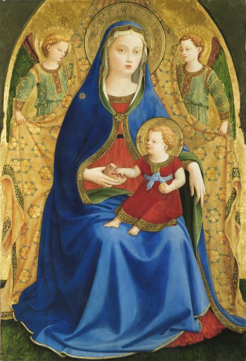 Madonna og barnet med granatæble, ca. 1526, Madrid, Museo del Prado.