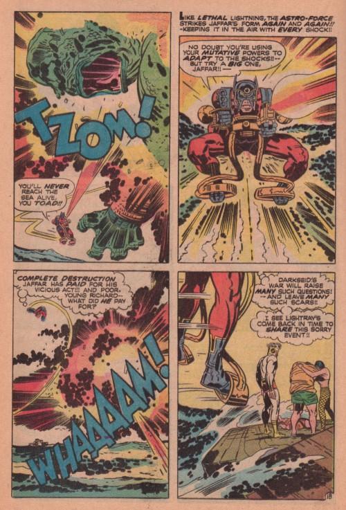 """Jack Kirby og Mike Royer, fra """"The Glory Boat"""", New Gods #6 (1971)"""