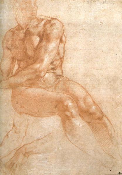 Siddende mandling model, ca. 1510+12, Wien, Albertina