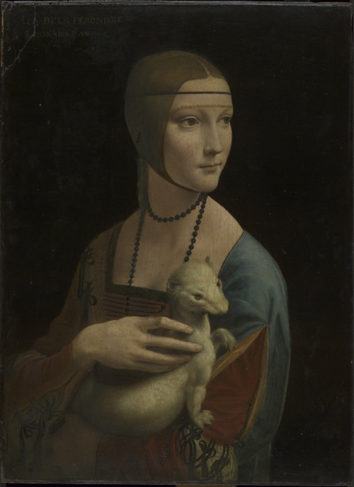 Leonardo da Vinci, Portrait of Cecilia Gallerani ('The Lady with the Ermine'), c. 1488, oil on panel, 54.8 x 40.3 cm., deposited at the National Museum, Cracow