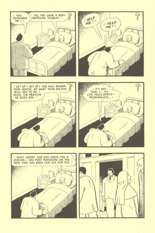 Riel meets the bed-stricken Bishop Bourget