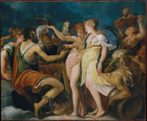 Andrea Schiavone, the Marriage of Cupid and Psyche, c. 1550, New York, Metropolitan Museum of Art
