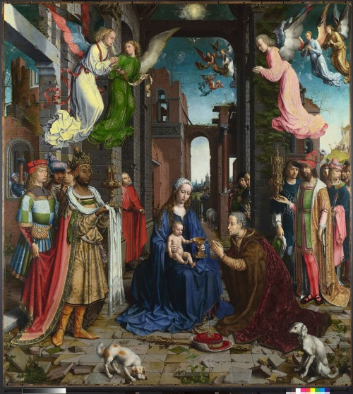 Jan The Adoration of the Kings, 1510-15, oil on panel, 177.2 x 161.3 cm. London, The National Gallery