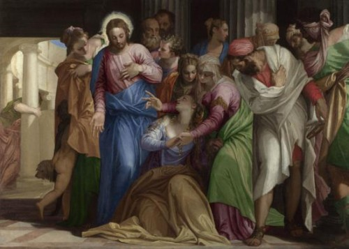 Paolo Veronese, The Conversion of Mary Magdalene, about 1548, oil on canvas, 117.5 x 163.5 cm. London, The National Gallery.