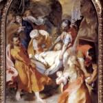 Entombment of Christ, 1579-82, oil on canvas, 295 x 187 cm, Senigallia, Chiesa della Croce (here shown in original frame)