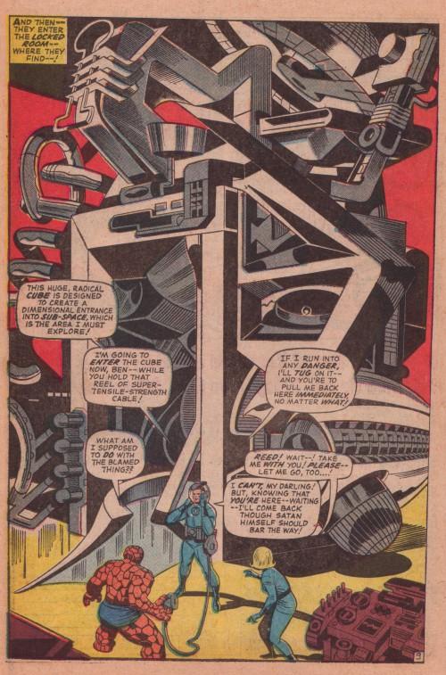 """Jack Kirby, Joe Sinnott og Stan Lee, fra """"This Man... This Monster!"""", Fantastic Four #51 (1966)"""