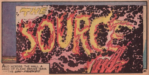 "Jack Kirby og Mike Royer, fra ""The Pact"", New Gods #7 (1971)"