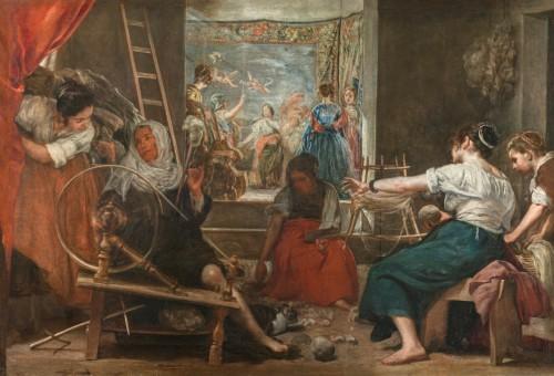 Diego Velázquez, Las hilanderas (The Spinners), 1655-60. Madrid, Museo del Prado