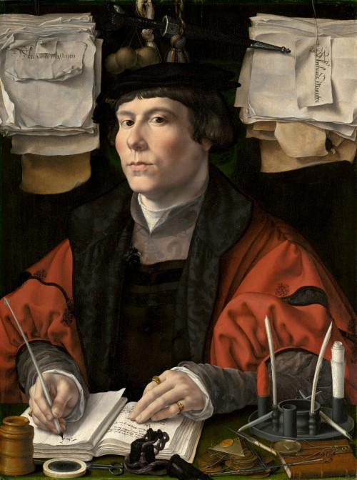 Jan Portrait of a Merchant (Jan Jacobsz. Snoek?), c. 1530, oil on panel, 63.6 x 47.5 cm. Washington DC, National Gallery of Art
