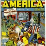 Jack Kirby og Syd Shores, forside til Captain America Comics #1 (1940)