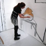 Anke Feuchtenberger working a wall