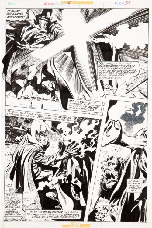 From Doctor Strange #14 (1976), inked by Tom Palmer