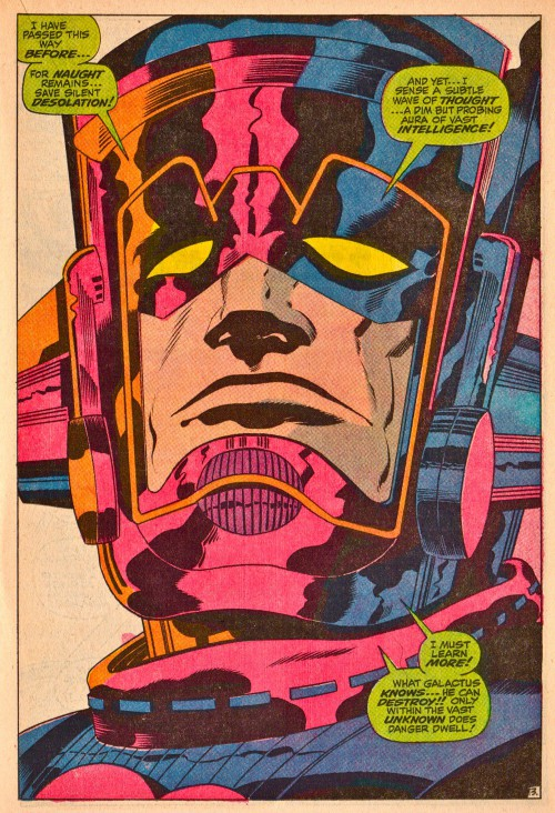 """Jack Kirby, Vince Colletta og Stan Lee, fra """"And Now... Galactus!"""", The Mighty Thor #160 (1968)"""